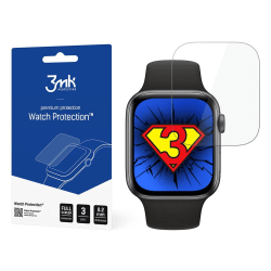 3MK 3-Pack Skydd för skärmen på Apple Watch 6/SE 44mm Transparent