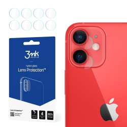 4-Pack 3MK FlexibleGlass iPhone 12 Mini Linsskydd Kamera Transparent