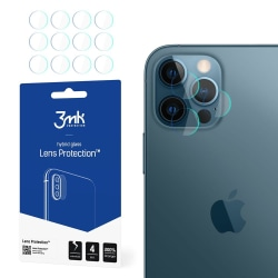 4-Pack 3MK FlexibleGlass iPhone 12 Pro Linsskydd Kamera Transparent