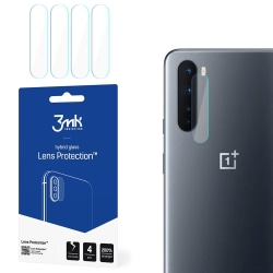 4-Pack 3MK FlexibleGlass OnePlus Nord Linsskydd Kamera Transparent