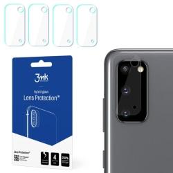 4-Pack 3MK FlexibleGlass Samsung Galaxy S20 Linsskydd Kamera Transparent
