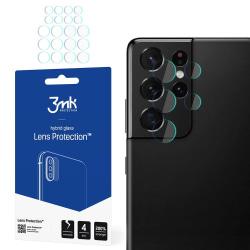 4-Pack 3MK FlexibleGlass Samsung Galaxy S21 Ultra Linsskydd Transparent