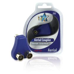 Antennkabel adapter - Splitter X2 Svart