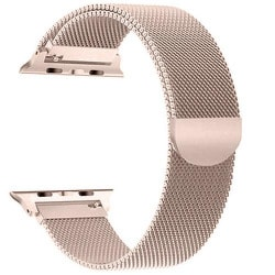 Armband Milanese Loop Apple Watch 42/44 mm - Roséguld