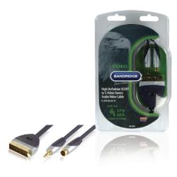 Bandridge Premium Scart - S-Video/3.5mm 2m Blå