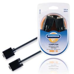 Bandridge VGA monitor kabel VGA - VGA 2.0 m Svart