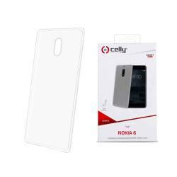 Celly Gelskin Nokia 6 Genomskinligt TPU Skal Transparent