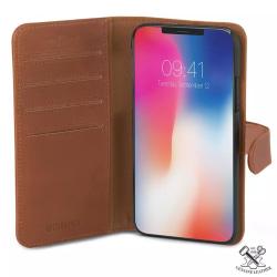 Champion™ Plånboksfodral Wallet iPhone XS/X - Äkta Läder Brun