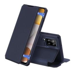 Dux Ducis Skin X Fodral Läder Samsung Galaxy A12 - Blå Blå