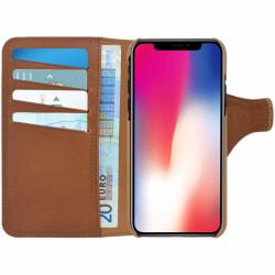 ERCKO™ iPhone XS/X Fodral - Äkta läder Brun
