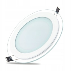 Forever Rund LED Downlight 6W (3000k) Varm vit Ø75 mm Vit