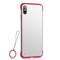 Frameless Case Huawei P30 Lite Skal med Ringhållare - Röd Svart