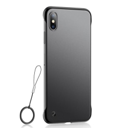 Frameless Case Huawei Y5 2019 Skal med Ringhållare - Svart Svart