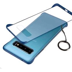 Frameless Case Samsung Galaxy S10 Skal med Ringhållare - Navy Svart