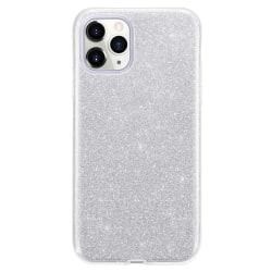 Glitter Skal för iPhone 12/12 Pro - Silver