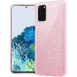 Glitter Skal för Samsung Galaxy S20 - Rosa Rosa