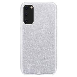 Glitter Skal för Samsung Galaxy S20 - Silver Silver
