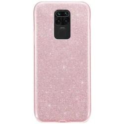 Glitter Skal för Xiaomi Redmi Note 9 - Roséguld Rosa guld
