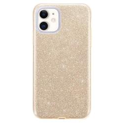 Gradient Glitter 3i1 Skal för iPhone 12 Mini - Guld Guld
