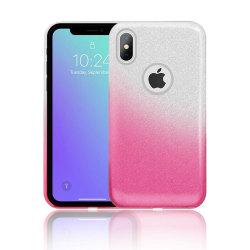Gradient Glitter 3i1 Skal för iPhone XS Max - Rosa