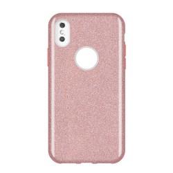 Gradient Glitter 3i1 Skal för Samsung Galaxy S10E - Ljusrosa LightPink