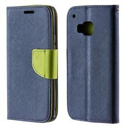 HTC One M9 Navy/Lime Plånboksfodral