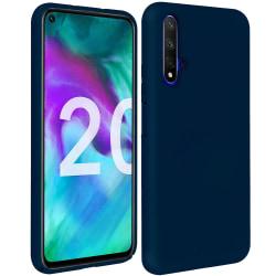 Huawei Nova 5T Skal Mörkblå Silikonskal  Blå