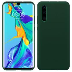 Huawei P30 Lite Silicone Case - Army Green Silikonskal Svart