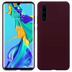 Huawei P30 Lite Silicone Case - Burgundy Silikonskal Röd