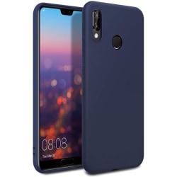 Huawei Y5 2019 Skal Mörkblå Silikonskal Blå