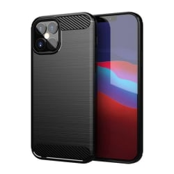 iPhone 12 Mini Skal Stöttåligt Skal - Kolfiber Svart