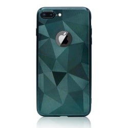 iPhone 6/6s Plus - Trendy Geometric Case Navy Green Grön