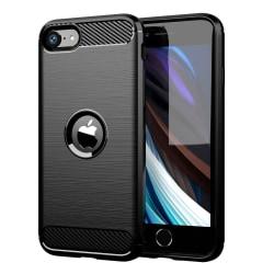 iPhone 8/7 Skal - Exklusivt Stöttåligt Skal - Kolfiber Svart