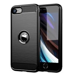 iPhone SE 2020 Skal - Exklusivt Stöttåligt Skal - Kolfiber Svart