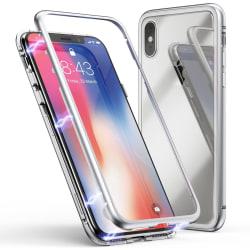 iPhone XR 360 Magnetiskt Stöttåligt Skal - Silver Silver