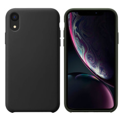 iPhone XR Skal Silicone Slim Case Soft Svart