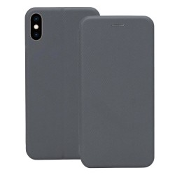 iPhone XS Max Flip-Cover Fodral - Silver Silver