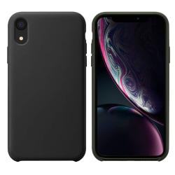 iPhone XS Max Skal Black Silikonskal Svart
