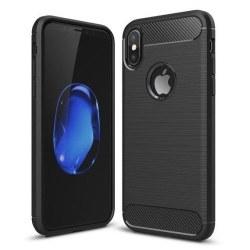 iPhone XS/X Skal - Anti-Impact Carbon Svart