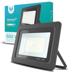 LED strålkastare 200W Utomhus KallVit 6000K IP66 Svart