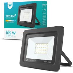 LED strålkastare 20W Utomhus KallVit 6000K IP66 Svart