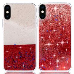 Liquid Glitter Skal för iPhone XS Max - Röd Röd