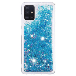 Liquid Glitter Skal för Samsung Galaxy A71 - Blå Blå