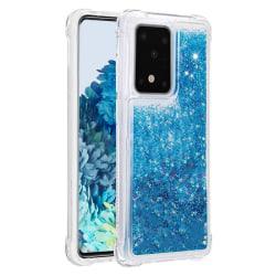 Liquid Glitter Skal för Samsung Galaxy S20 Plus - Blå Blå