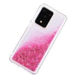 Liquid Glitter Skal för Samsung Galaxy S20 Ultra - Rose Rosa guld