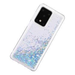 Liquid Glitter Skal för Samsung Galaxy S20 Ultra - Silver Silver