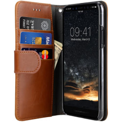 Melkco Wallet iPhone XS/X Plånboksfodral Brun