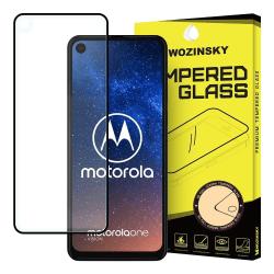 Motorola One Vision Härdat Glas Heltäckande Skärmskydd Transparent
