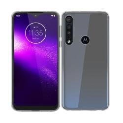 Motorola One Macro Ultra-Slim Transparent TPU Skal  Svart