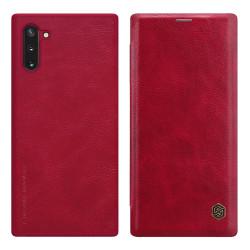 Nillkin Qin Leather Flip Fodral till Samsung Galaxy Note 10 Brun